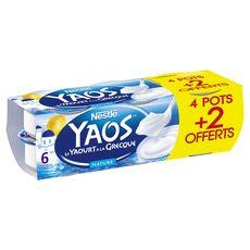 NESTLE Yaos Yaourt à la grecque nature 4 pots + 2 offerts 6x150g 4 pots + 2 offerts 6x150g