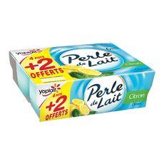 PERLE DE LAIT Perle de Lait citron 4x125g +2offerts