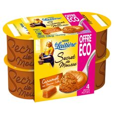 La Laitière secret de mousse caramel 4x120g prix choc