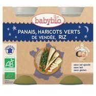 Babybio panais haricots verts riz 2x200g dès 8mois
