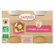 Babybio pot poires 2x130g  dès 4 mois