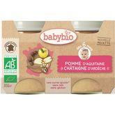Babybio pot pomme châtaigne 2x130g