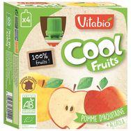 Vitabio cool fruits pomme bio 4x90g