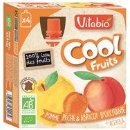 Vitabio cool fruits jaunes bio 4x90g