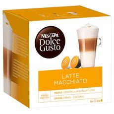 DOLCE GUSTO Capsules de café latte macchiato 2x8 capsules 194g