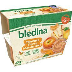 Blédina BLEDINA Petit pot dessert pommes poires et mandarines dès 8 mois