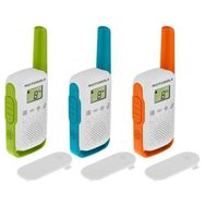 MOTOROLA Talkie -Walkie T42 Trio - Orange Bleu et Vert