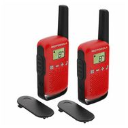 MOTOROLA Talkie Walkie - T42 Twin Pack - Rouge