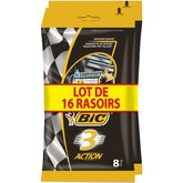 Bic Bic Action 3 rasoirs jetables x8