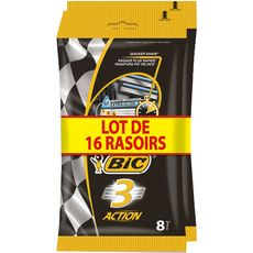 Bic Action 3 rasoirs jetables x8
