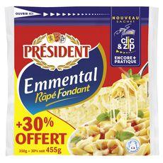 PRESIDENT Emmental râpé 350g +30% offert