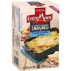 ENTREMONT Fromage à raclette et lardons 300g