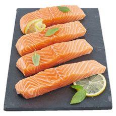 AUCHAN LE POISSONNIER Auchan le Poissonnier Pavés saumon d'Ecosse filière responsable x4 - 500g 4 pièces 500g