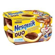 Nesquik Duo crème dessert chocolat vanille 4x70g