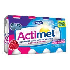ACTIMEL Actimel yaourt à boire framboise myrtille 8x100g