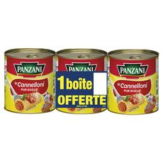 Panzani cannelloni pur boeuf cuisiné huile olive 2x800g+1