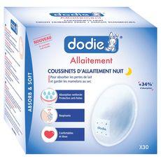 Dodie Coussinets d'allaitement nuit x30