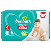 Pampers couches baby dry pants geant 9/15kg x40 taille 4