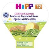 HiPP Hipp Assiette pommes de terre légumes verts saumon dès 12 mois 230g
