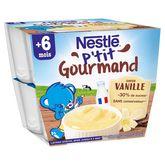 Nestlé p'tit gourmand vanille 8x100g dès 6 mois
