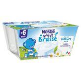 Nestlé p'tit brassé nature 4x100g dès 6 mois