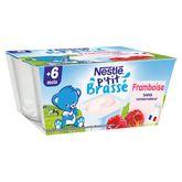 Nestlé p'tit brassé framboise 4x100g dès 6 mois