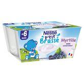 Nestlé ptit brassé à la myrtille 4x100g dès 6 mois