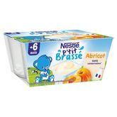 Nestlé ptit brassé à l'abricot 4x100g dès 6 mois