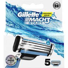 Gillette Mach 3 Start recharges lames de rasoirs x5