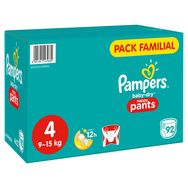 Pampers Baby-dry pants pack familial couches-culottes taille 3 (6-11kg) x92