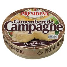 PRESIDENT Camembert de campagne au lait pasteurisé 250g