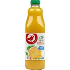 AUCHAN Pur jus d'orange sans pulpe 1,5l