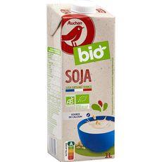 AUCHAN BIO Boisson soja calcium source de calcium 1l