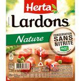 Herta lardon nature sans nitrite 2x75g