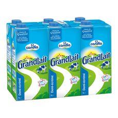 Candia GrandLait lait demi-écrémé 6x1l