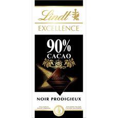 Lindt excellence noir 90% tablette 100g