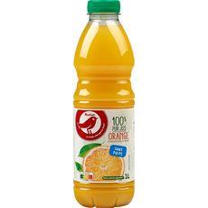 Auchan pur jus d'orange sans pulpe 1l