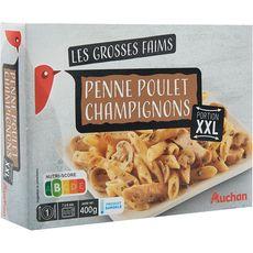 AUCHAN Penne poulet et champignon XXL 1 portion 400g
