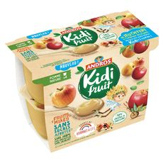 Kidifruit cup pomme nature 4x85g