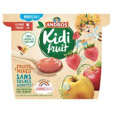 KIDIFRUIT Kidifruit cup pomme fraise 4x85g