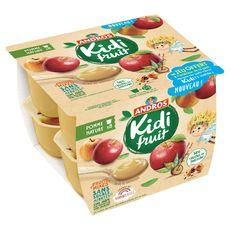 KIDIFRUIT Spécialité pomme nature sans sucres ajoutés 8x85g