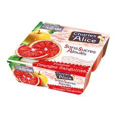 CHARLES ET ALICE Spécialité pomme orange 4x97g