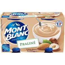 Mont Blanc crème dessert praliné 4x125g