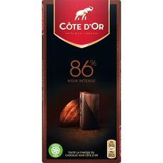 Côte d'Or noir brut 86% 100g