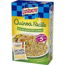 Lustucru mélange quinoa blé lentilles cuisson facile x2 300g