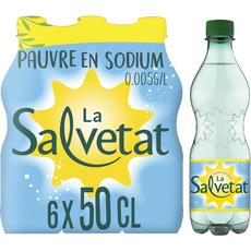 Salvetat Eau minérale gazeuse finement pétillante bouteilles 6x50cl
