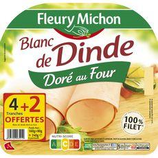 Fleury Michon blanc de dinde doré tranche x4 +2offertes 240g