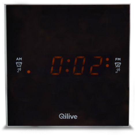 QILIVE Radio réveil - Blanc - Cubic Clock Q.1389