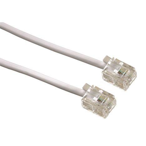 QILIVE Câble ADSL RJ11 Mâle / JR11 Mâle - 10 M - Blanc
