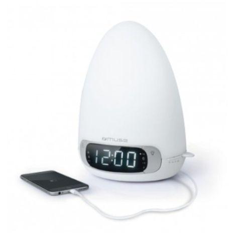 MUSE Radio réveil lumière Bluetooth - Blanc - ML-35 BT